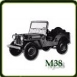 Bumpers category  G503 Army Jeep Parts for  M38 Military Jeeps
