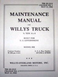 G503,Army Jeep, Military Jeep, Military, WWII, Post War, Willys, Ford, CJ,MB,GPW,M38,Book TM10-1513 Willys Maintenance,mb-maint