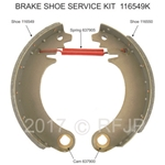 MB GPW MB brake shoe service kit - 116549/50 K MB Vintagejeeps RFJP G503 Jeep