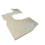MB body panel front floor half with hat channels -671019 ACM 1 ,Vintagejeeps RFJP  Jeep