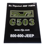 G503,Army Jeep, Military Jeep, Military, WWII, Post War, Willys, Ford, CJ,MB,GPW,M38, book,WW2 Military Jeep - Parts Catalog MB GPW