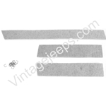 MB GPW, MB GPW PartsRadiator top and side seals set  -A3574,MB,GPW,A3574 Jeep G503 RFJP VintageJeeps