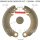 MB GPW, MB GPW PartsMB GPW brake shoe 9in one axle -116549K GPW,MB,GPW,116549K GPW Jeep G503 RFJP VintageJeeps